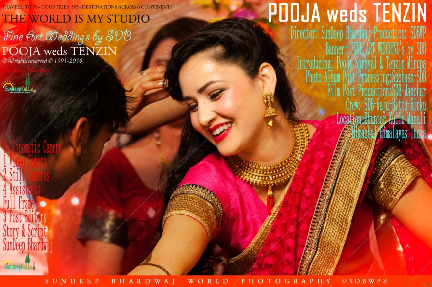 Calender Sized Poster 12 by 18 FineWed 119 MOVIE POSTER by FINE ART WEDDING's by SDB SunDeepKulluDOTcom POOJA weds TENZIN JPEG-1