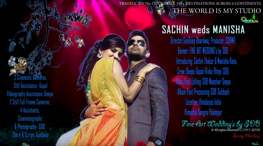 SACHIN weds MANISHA by FINE ART WEDDING's by SDB Poster AW blue FINAL AMJ
